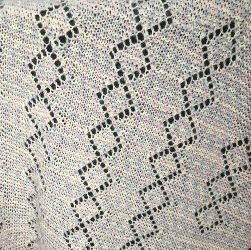 A close up picture of Croeso Baby Blanket