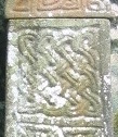 A close-up of part of the Nevern Cross